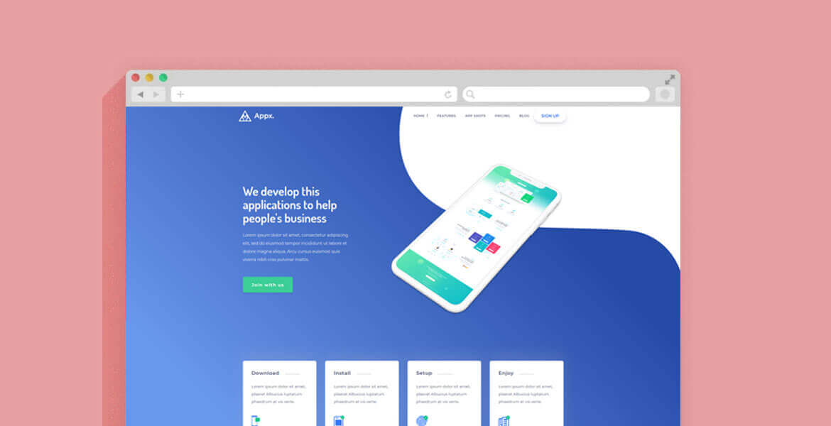 Landing page html css